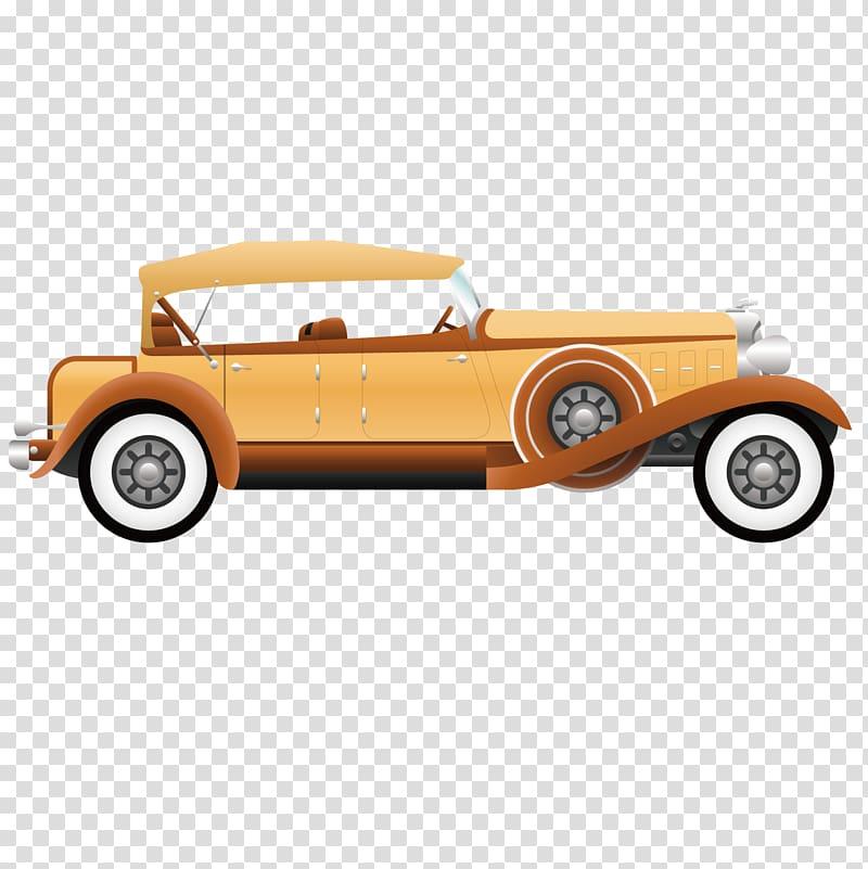 Antique car Automotive design, Retro classic car transparent.