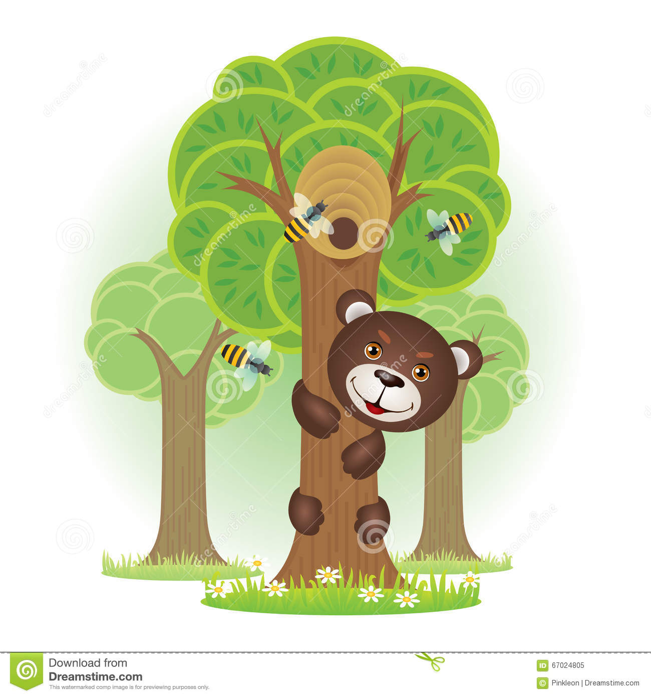 Clipart Bear Climbing Tree.