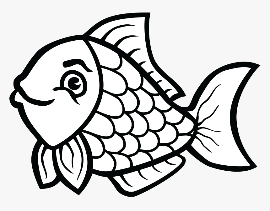Clip Art Transparent Download Of Fish In Black And.