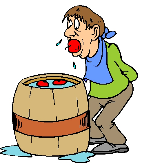 Bobbing For Apples Clipart.