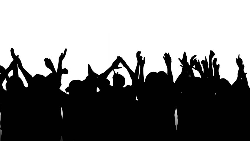Crowd Silhouette Transparent Background.