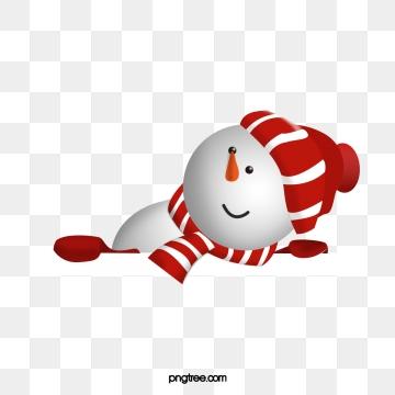 Cute Transparent Background Snowman Clipart.