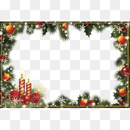 Clipart Download Material, Christmas Border, Transparent.