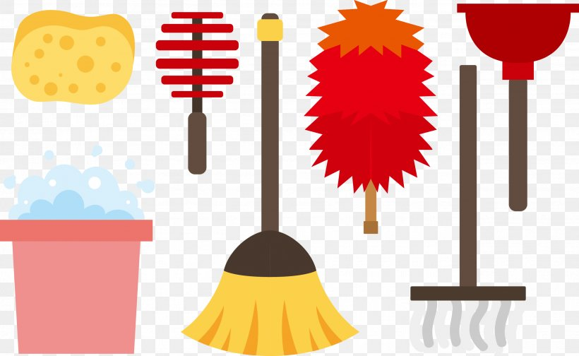 Feather Duster Cleaning Mop Clip Art, PNG, 2599x1599px.