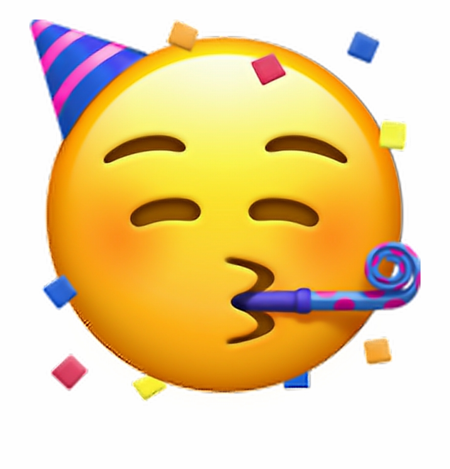 Party Hat Emoji Transparent Clipart Free Download Ya.