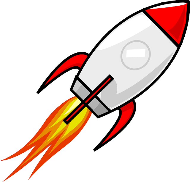 Rocket Clipart transparent PNG.
