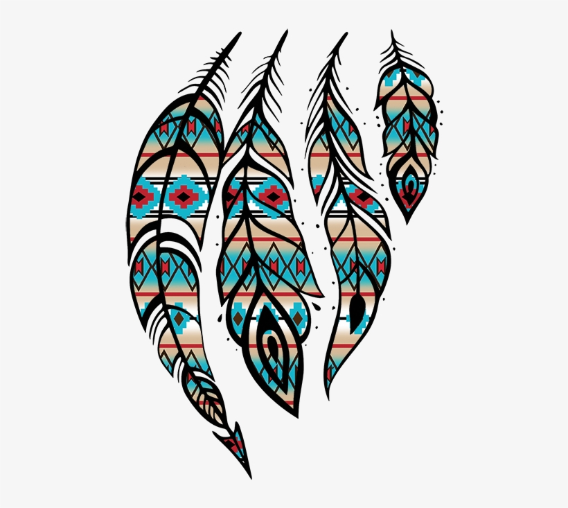 Native American Feathers PNG Image.