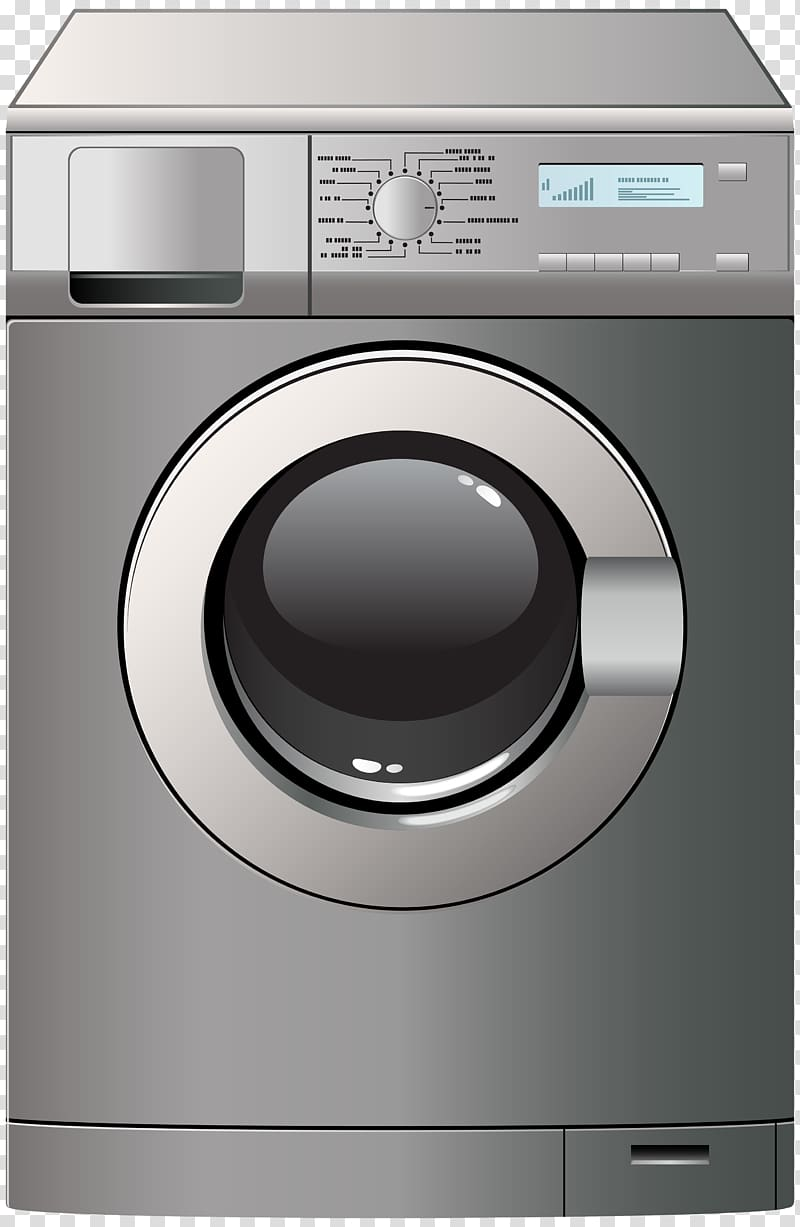 Washing machine transparent background PNG clipart.