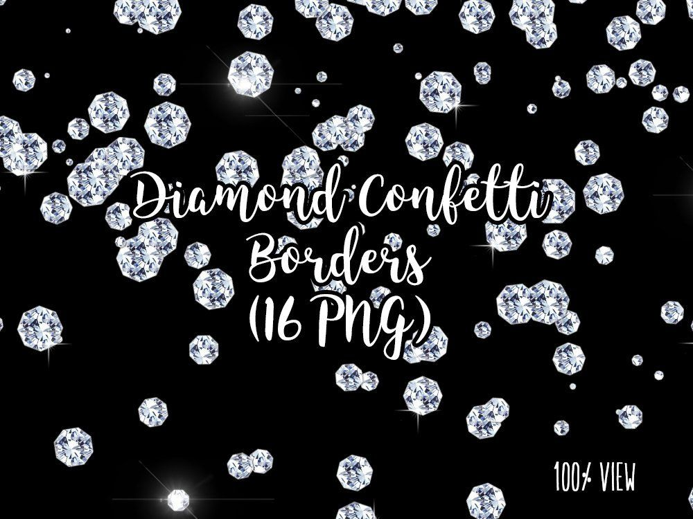 Diamond Confetti Overlays, Diamond Transparent PNG files.