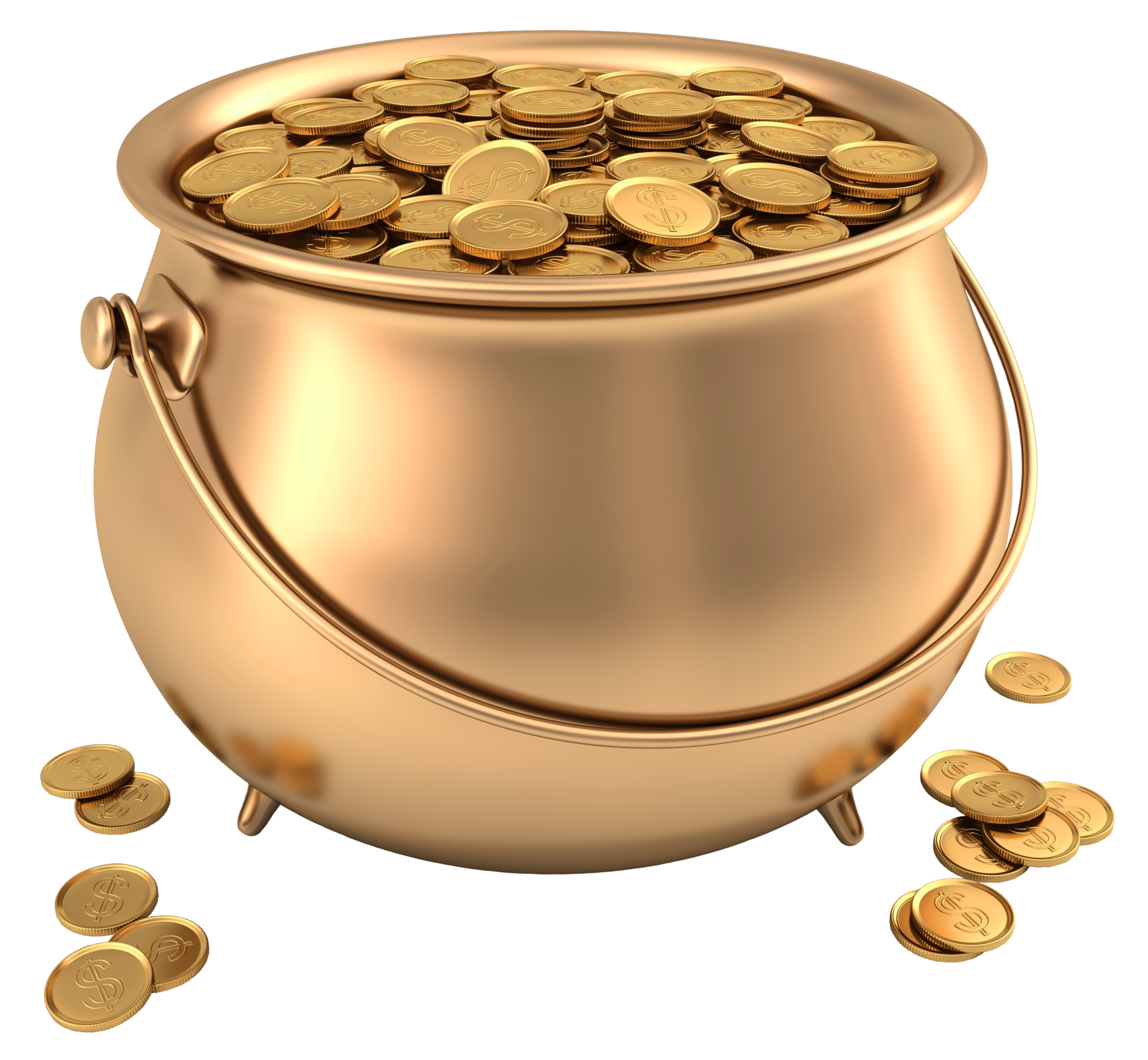 Free Pot Of Gold Transparent Background, Download Free Clip.