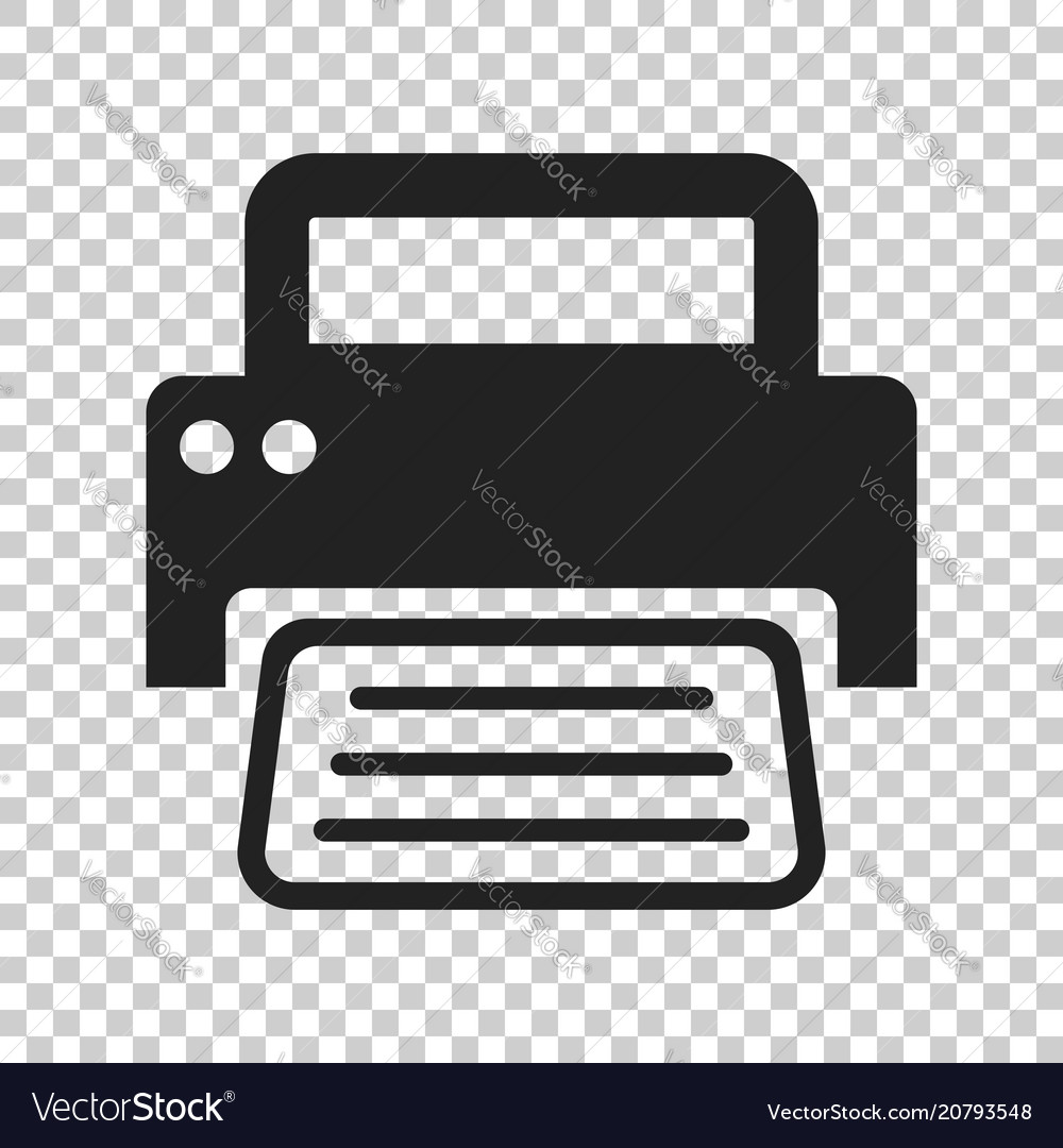 Printer icon on isolated transparent background.