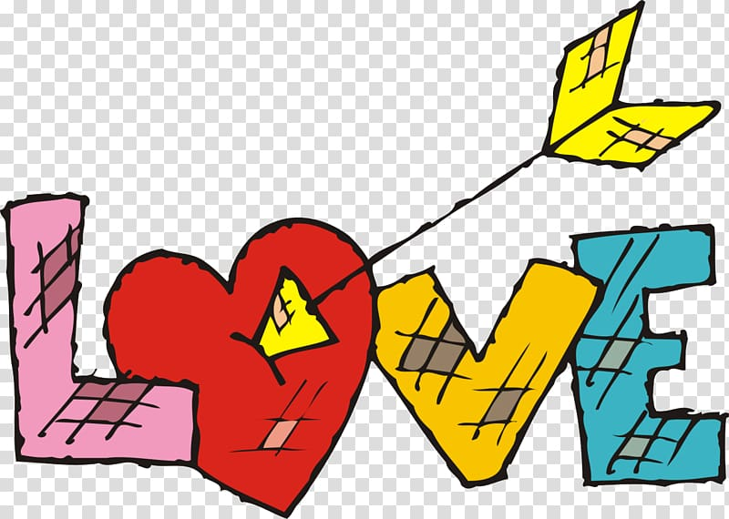 Love Word Heart , i love you transparent background PNG.