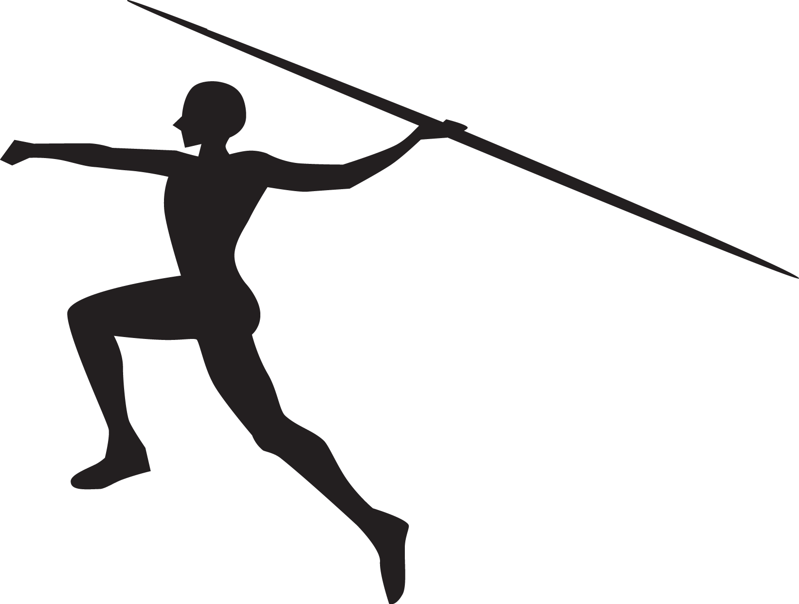 Javelin throw Silhouette Sports Track & Field.