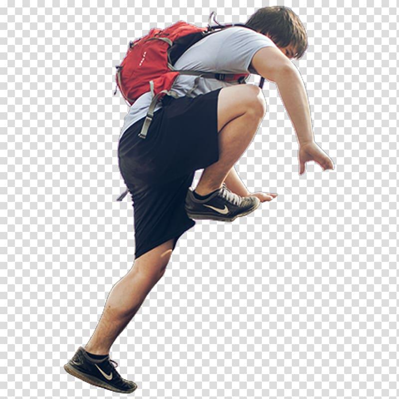 Man climbing upward , Rock climbing Walking Climbing wall.