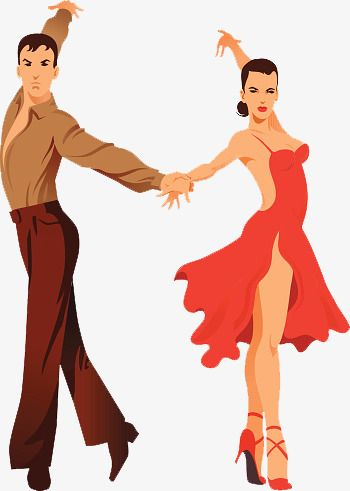 Latin Dance Teaching Hand Painted, Dance Clipart, Dance.