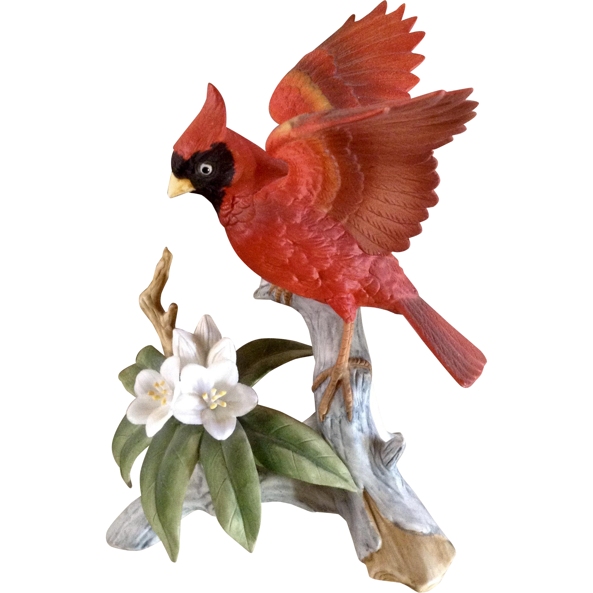 Vintage Andrea by Sadek 6231 Red Cardinal Bird Porcelain.