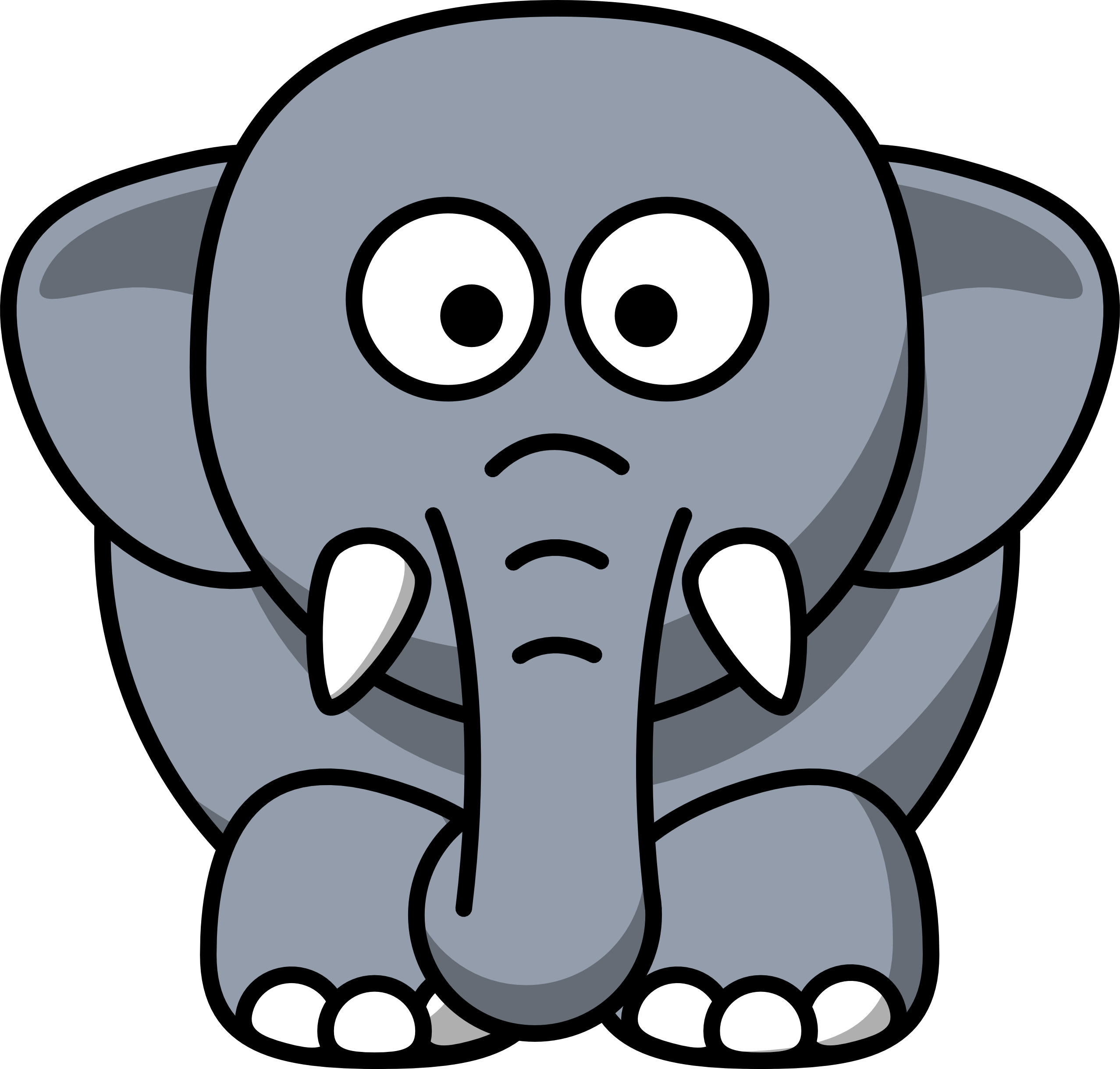Cartoon Elephants.
