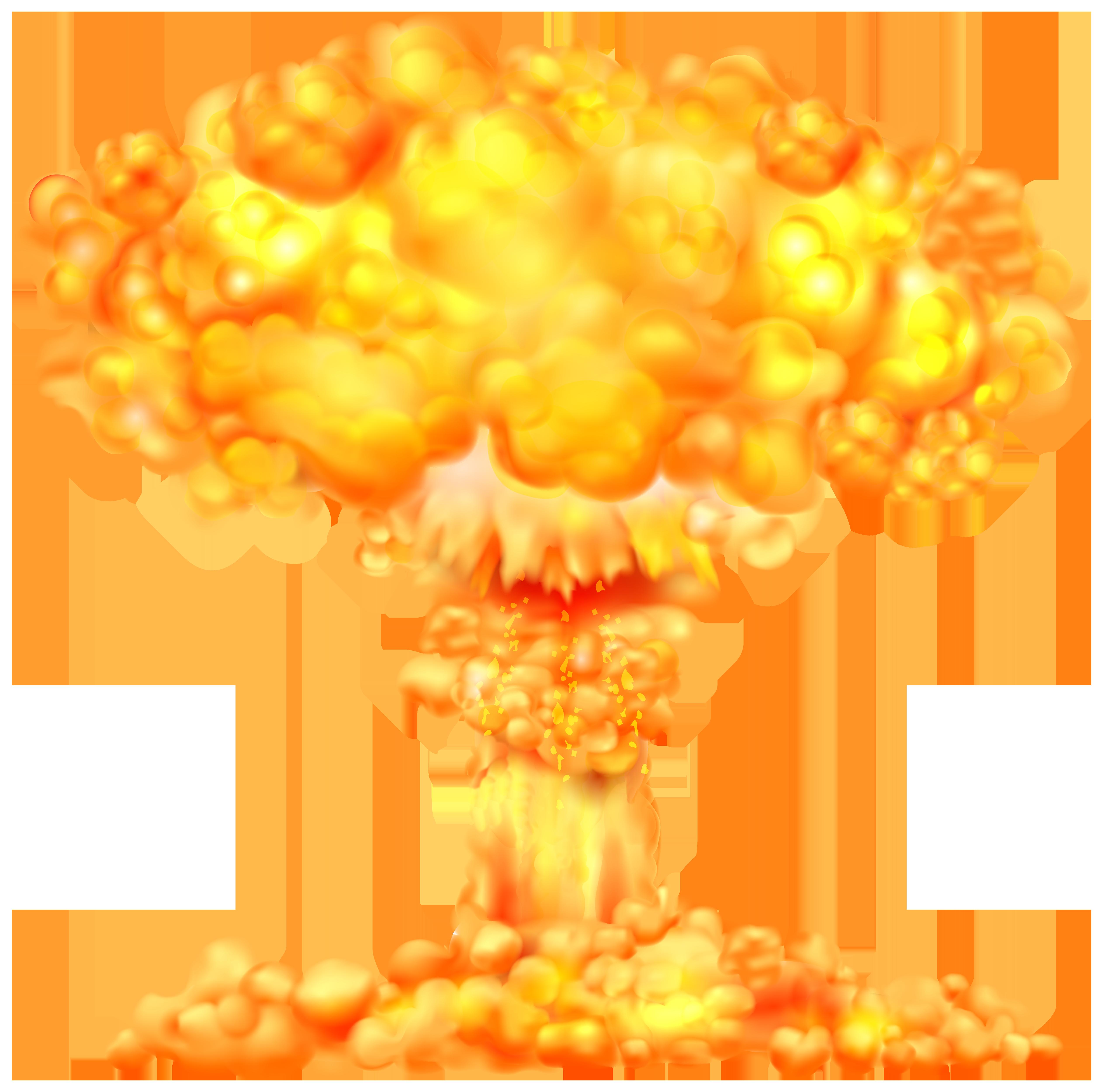 Fire Explosion Transparent PNG Clip Art Image.