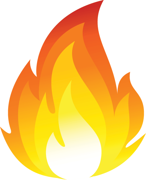 Cartoon Fire Flames transparent PNG.