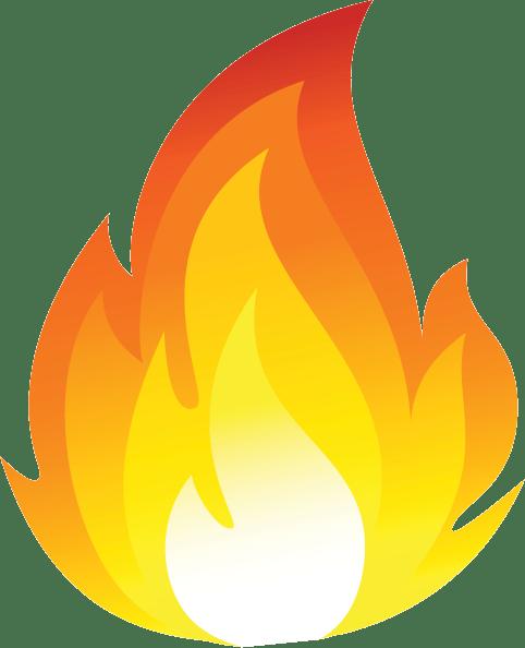 Cartoon Fire Flames transparent PNG.
