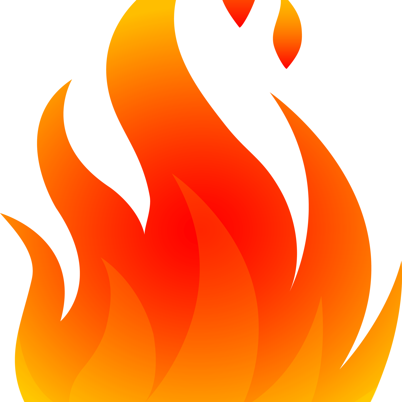 Cartoon Fire transparent PNG.