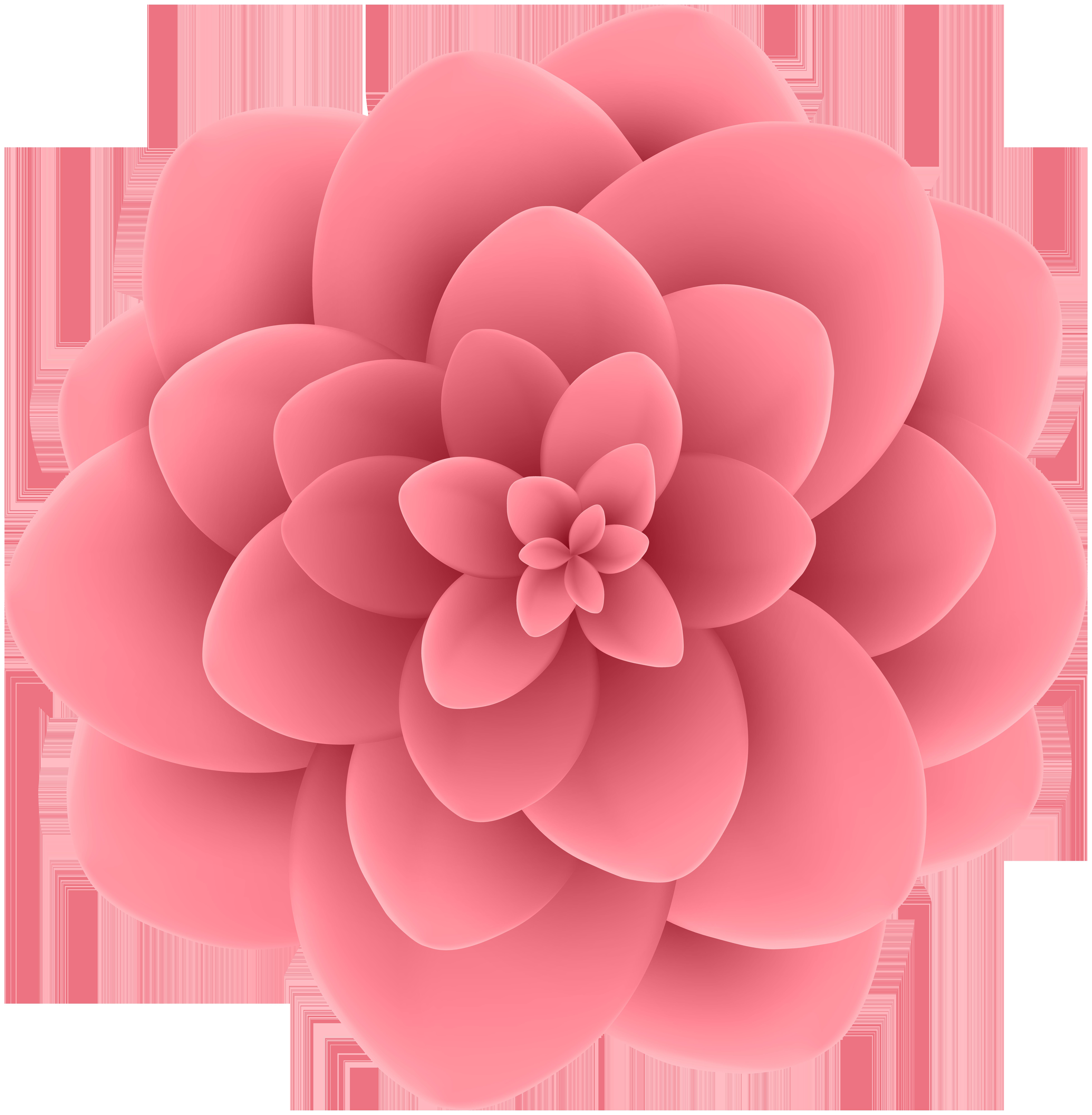 Pink flowers Bead.