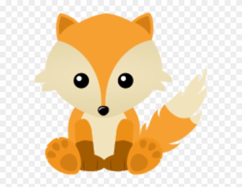 Kawaii Cute Fox Cub Cartoon.