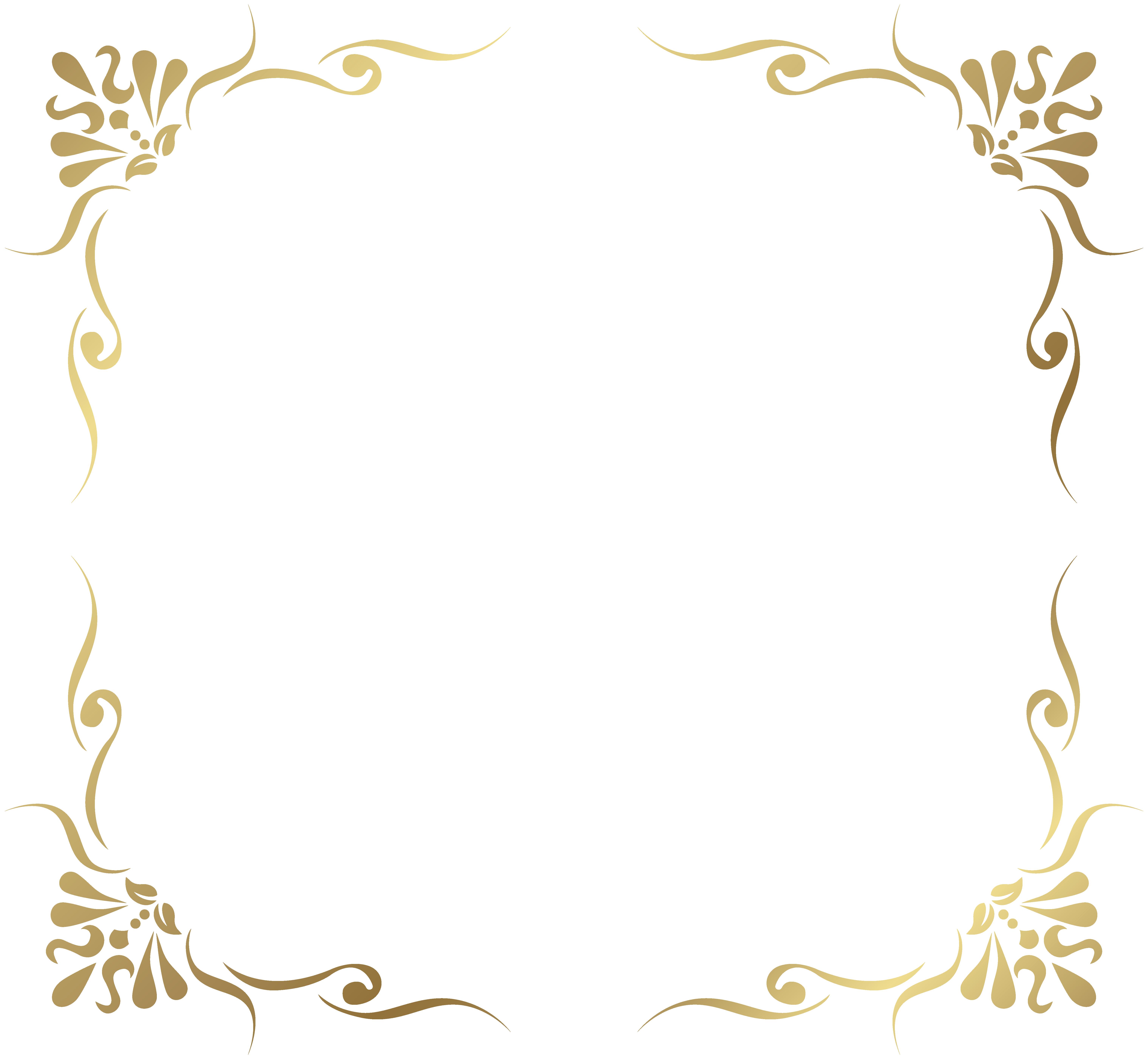 Transparent Decorative Frame Border PNG Picture.