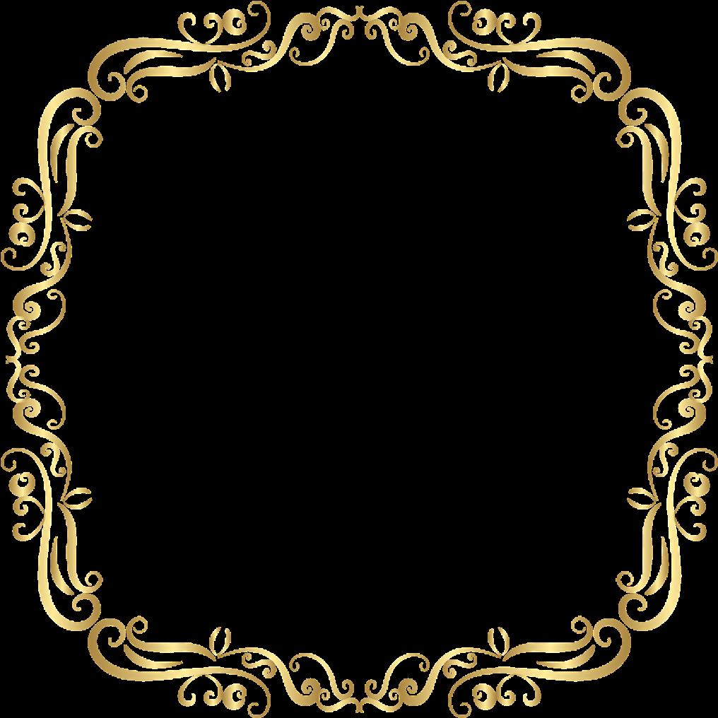 vintage #square #gold #golden #frame #border #squareframe.