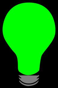 Green Light Bulb Clipart.