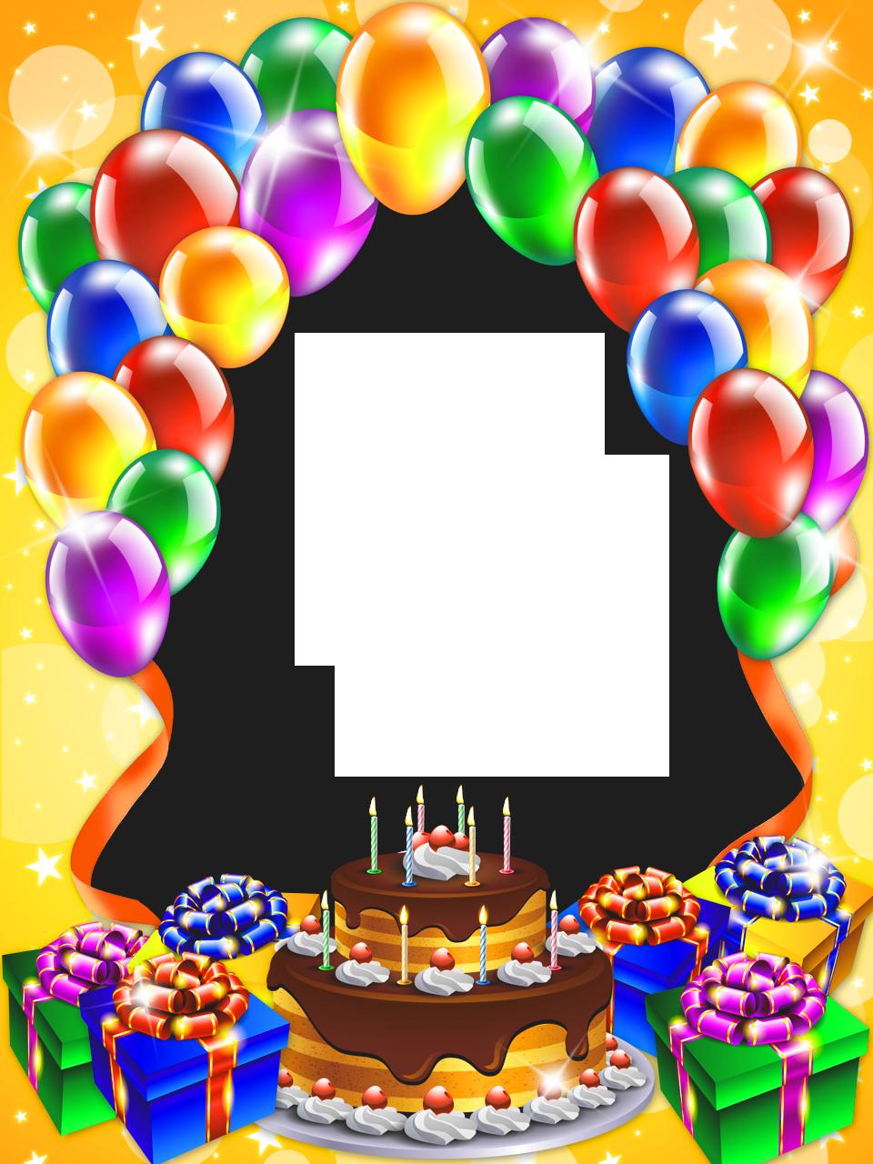 happy birthday frame clipart