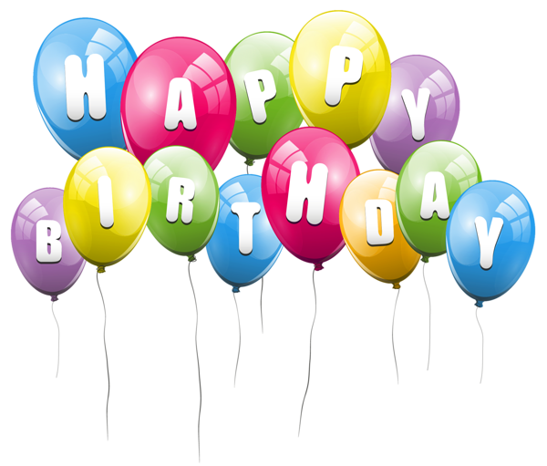 Transparent Balloons Happy Birthday PNG Picture Clipart.