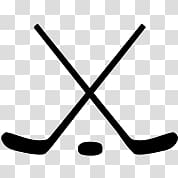 Crossed Ice Hockey Sticks and Puck transparent background.