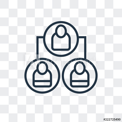 organization icon isolated on transparent background. Modern.