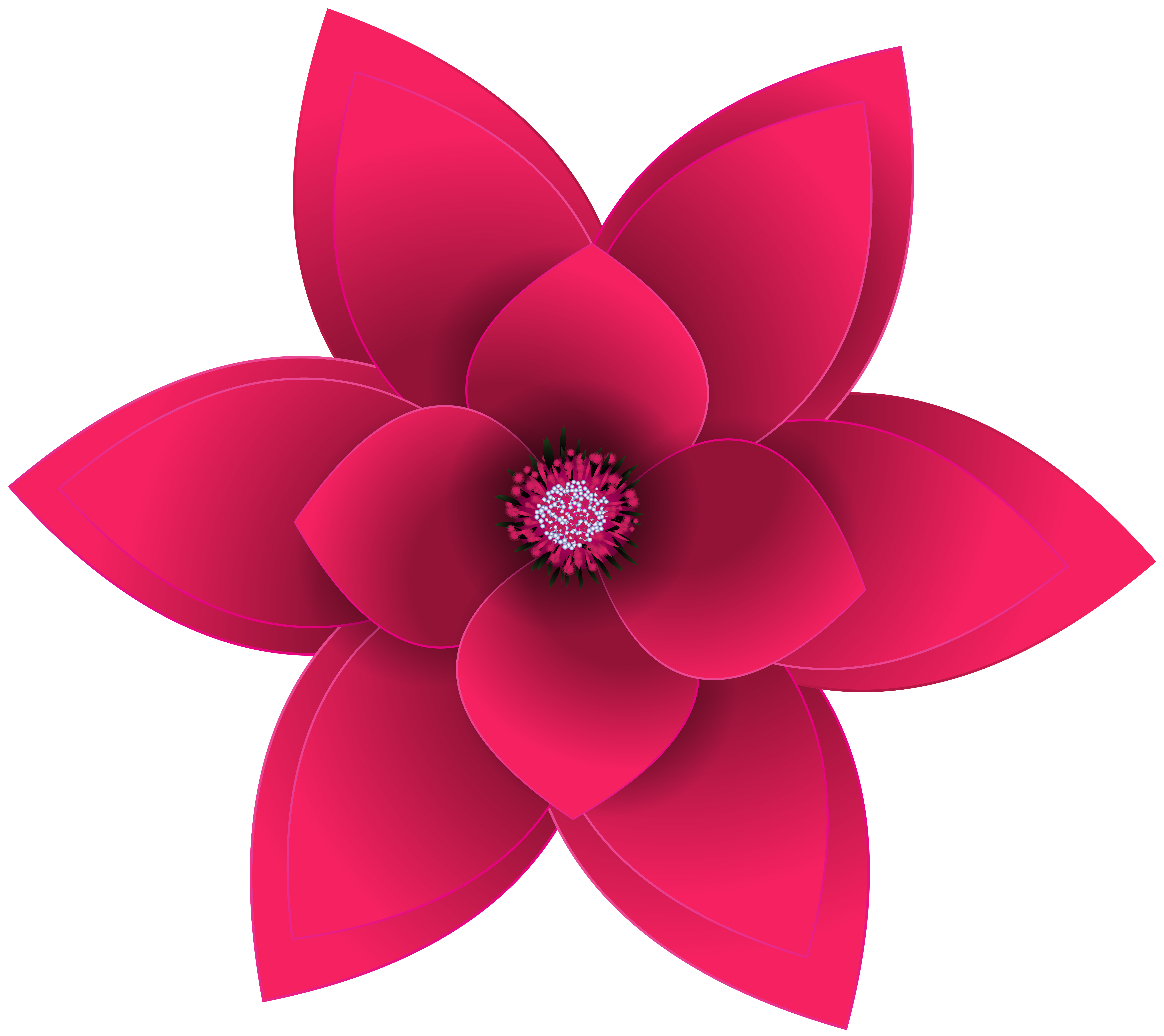 Decorative Flower Transparent Clip Art Image.