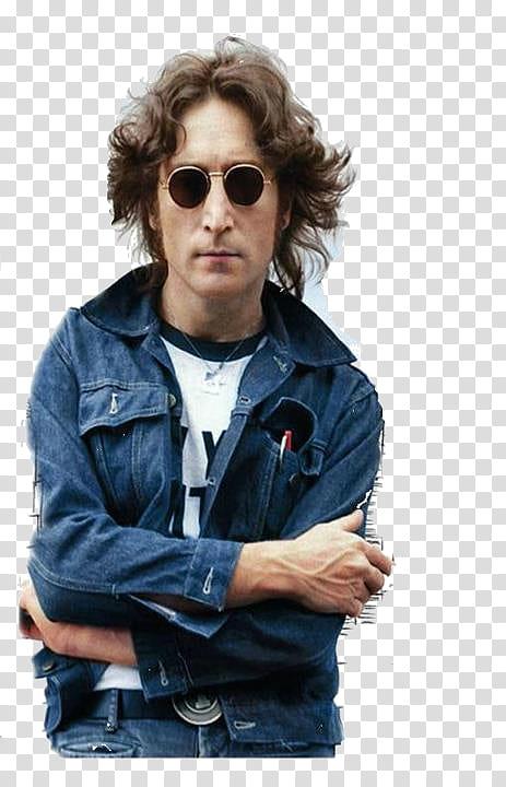John Lennon transparent background PNG clipart.