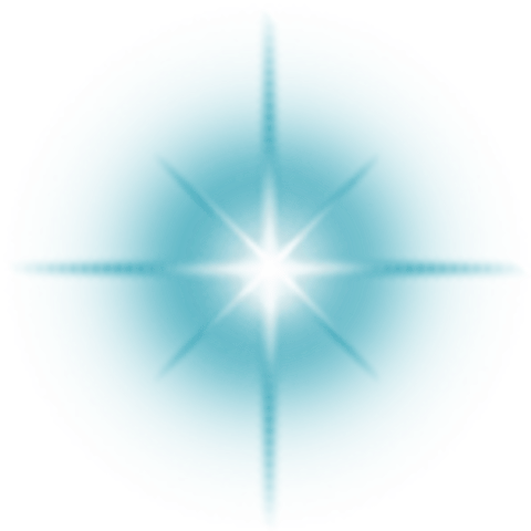 Lens Flare Blue transparent PNG.