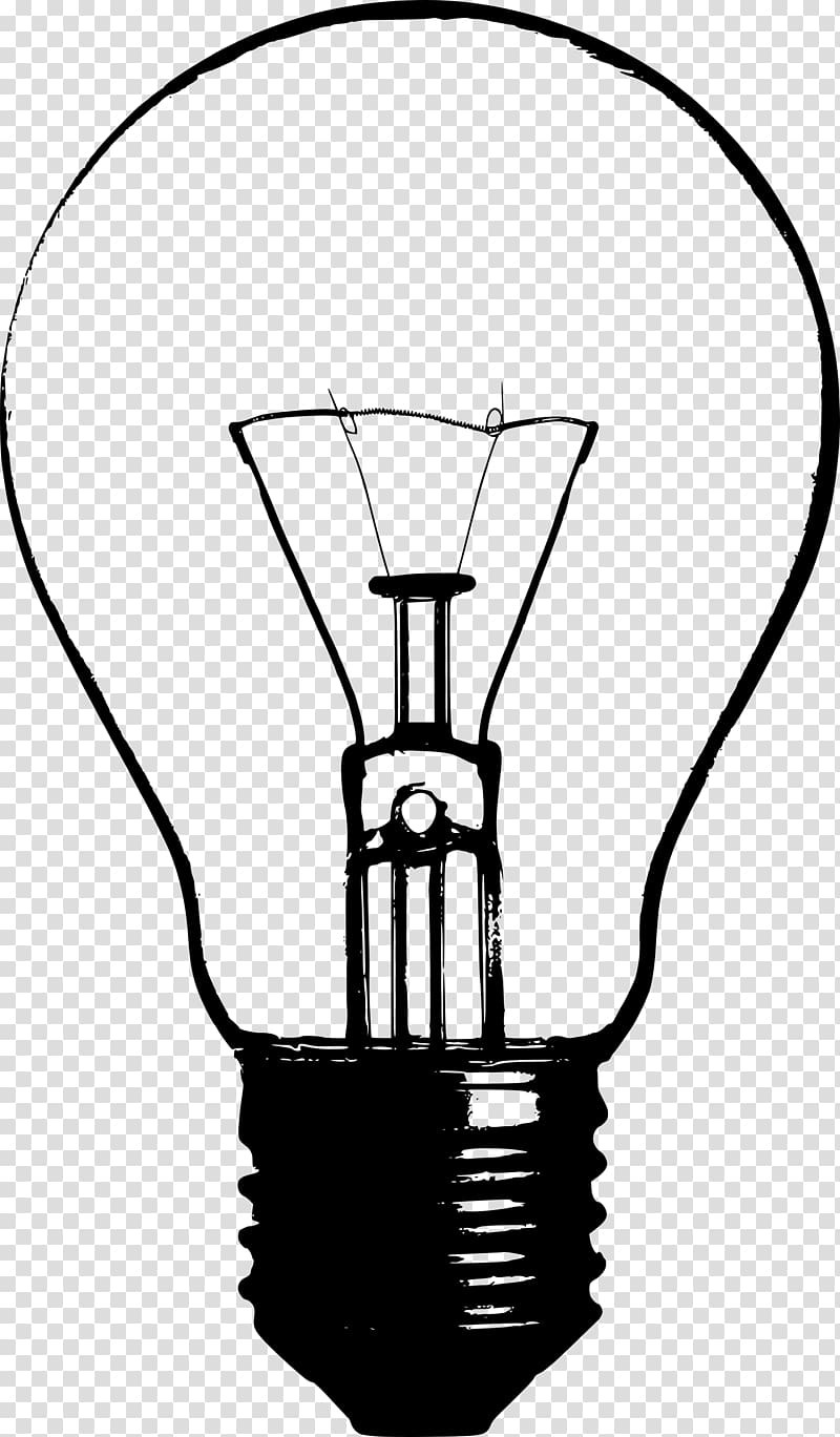Incandescent light bulb Drawing , nature transparent.