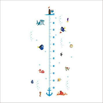 Nursery Height Measure Growth Chart Wall Sticker Kids Boys.