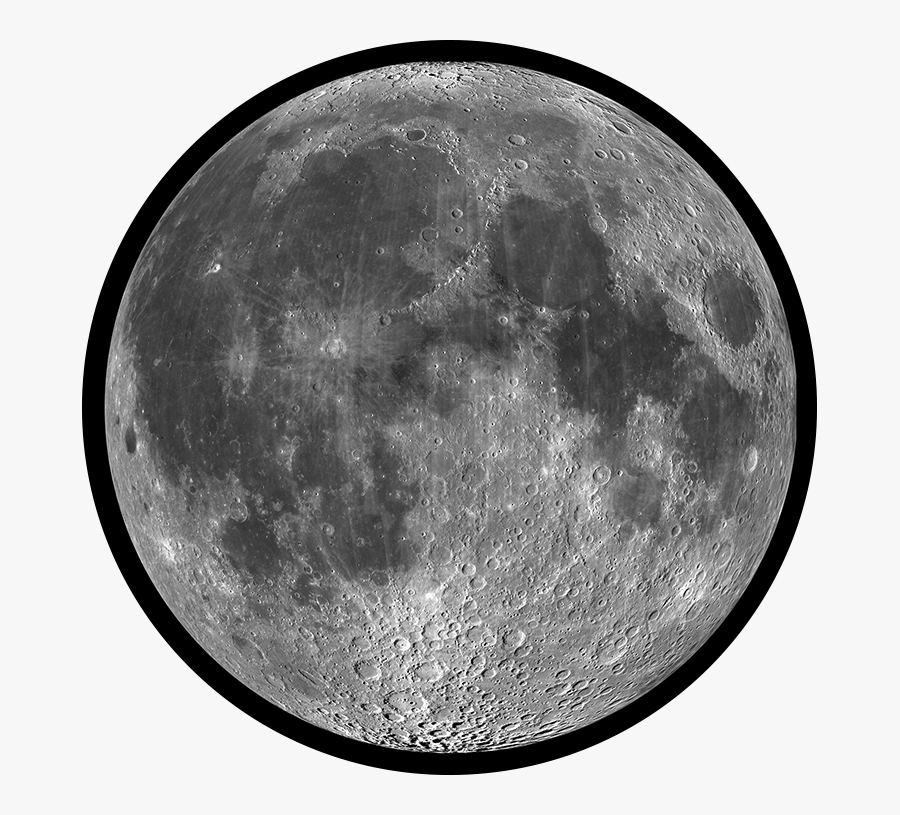 Transparent Moon Surface Clipart.