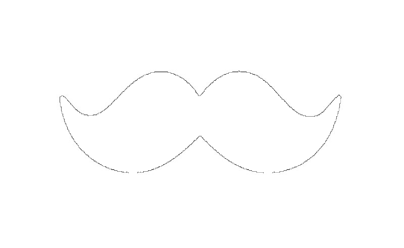 Moustache Clipart Outline.