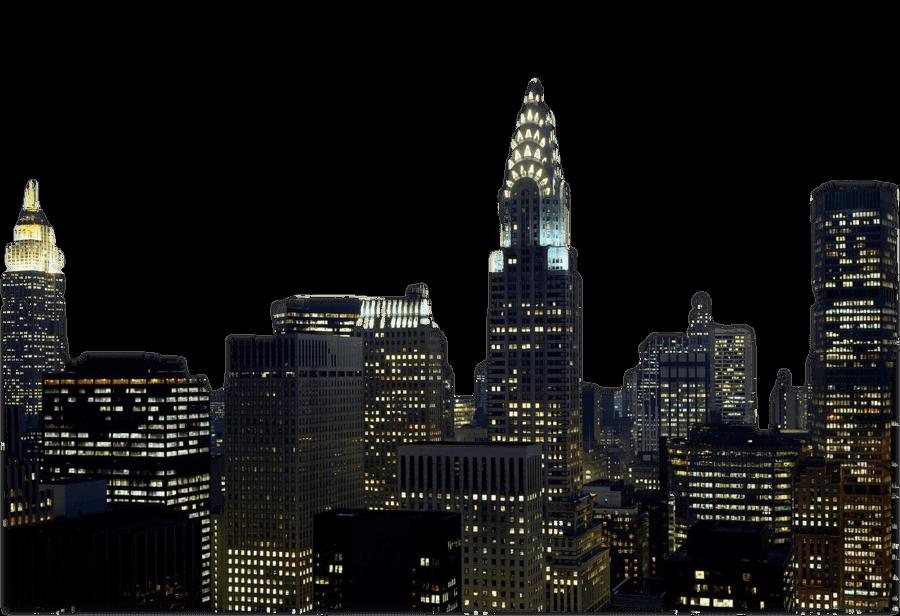 New York Skyline transparent PNG.