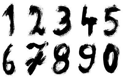 Grunge Numbers (PNG Transparent).