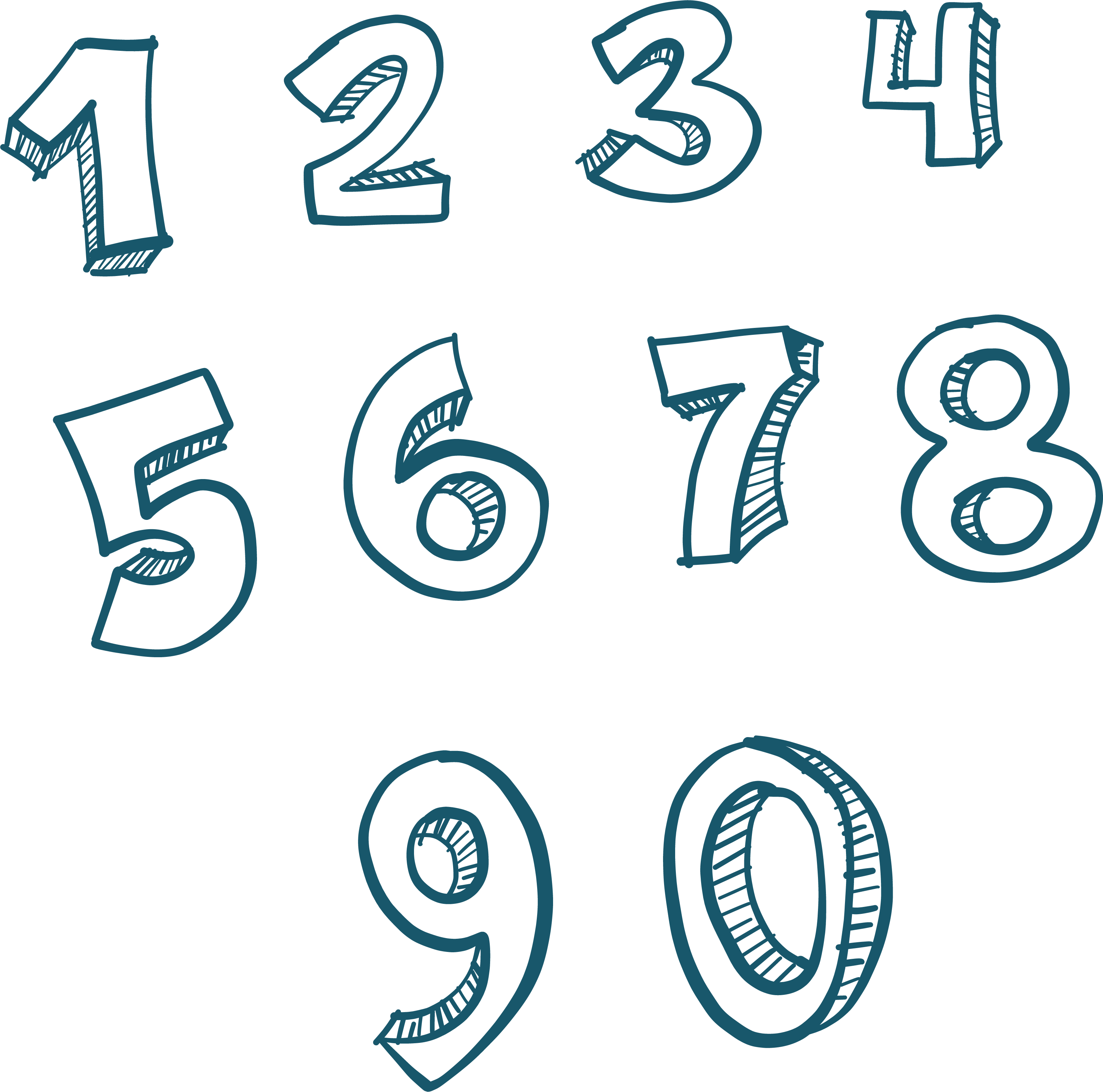 Numbers Transparent Background PNG.