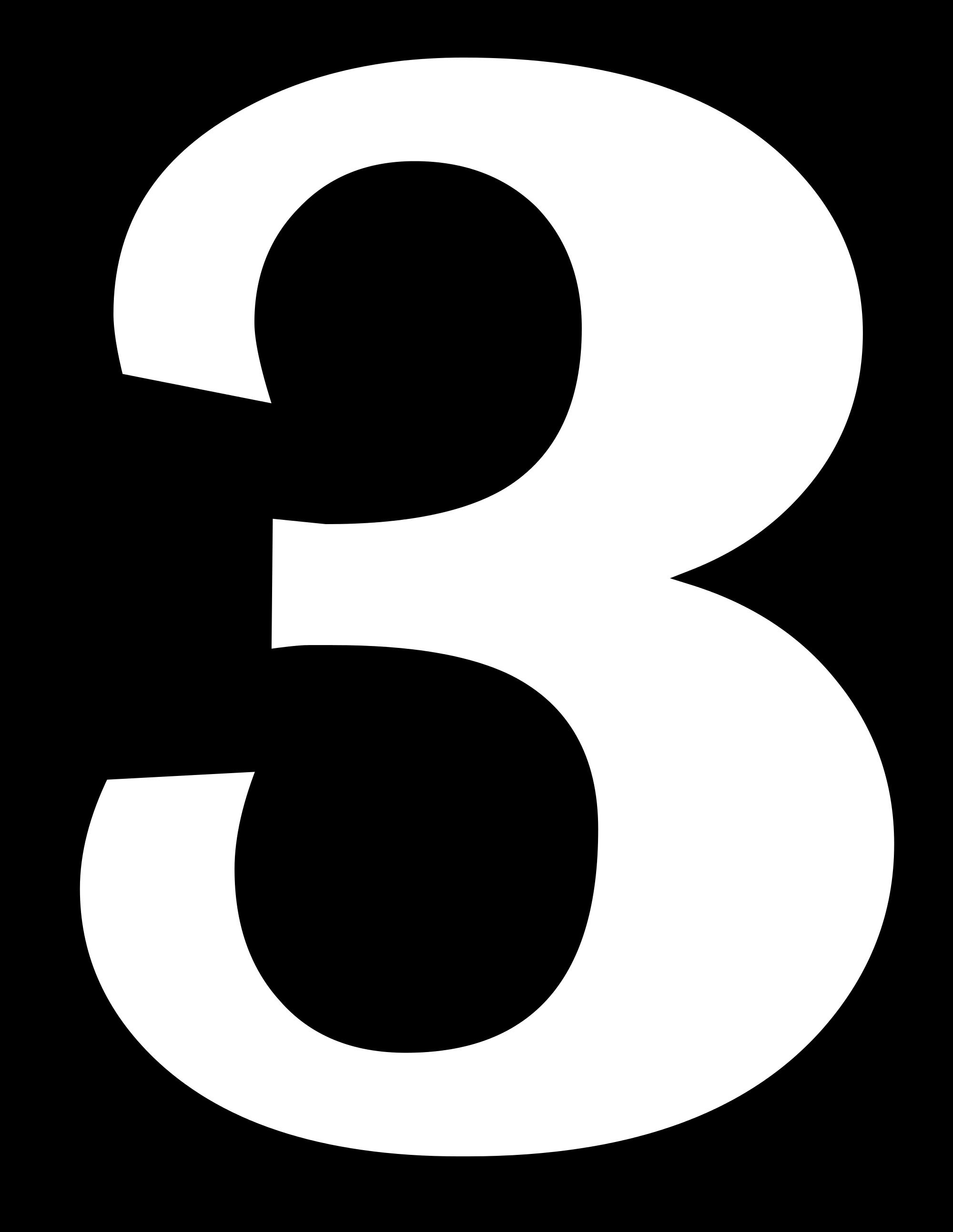 Number 3 PNG Transparent Image #7.