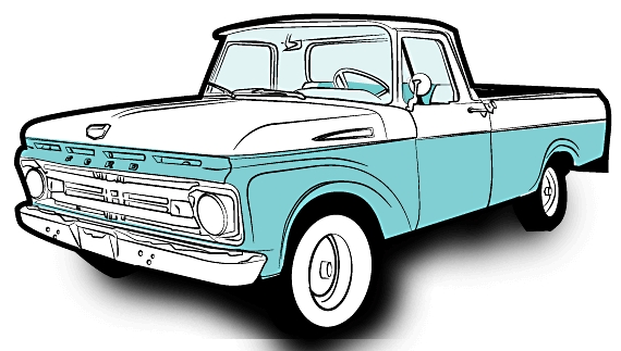 Old Ford Truck Drawing.