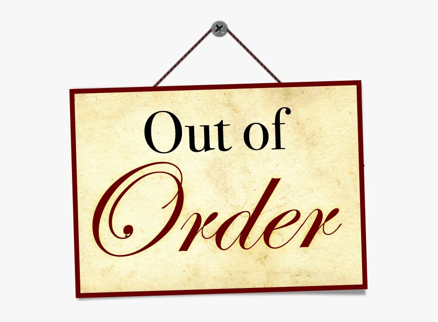 Out Of Order Clipart.