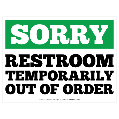 Restroom Out Of Order Clipart.
