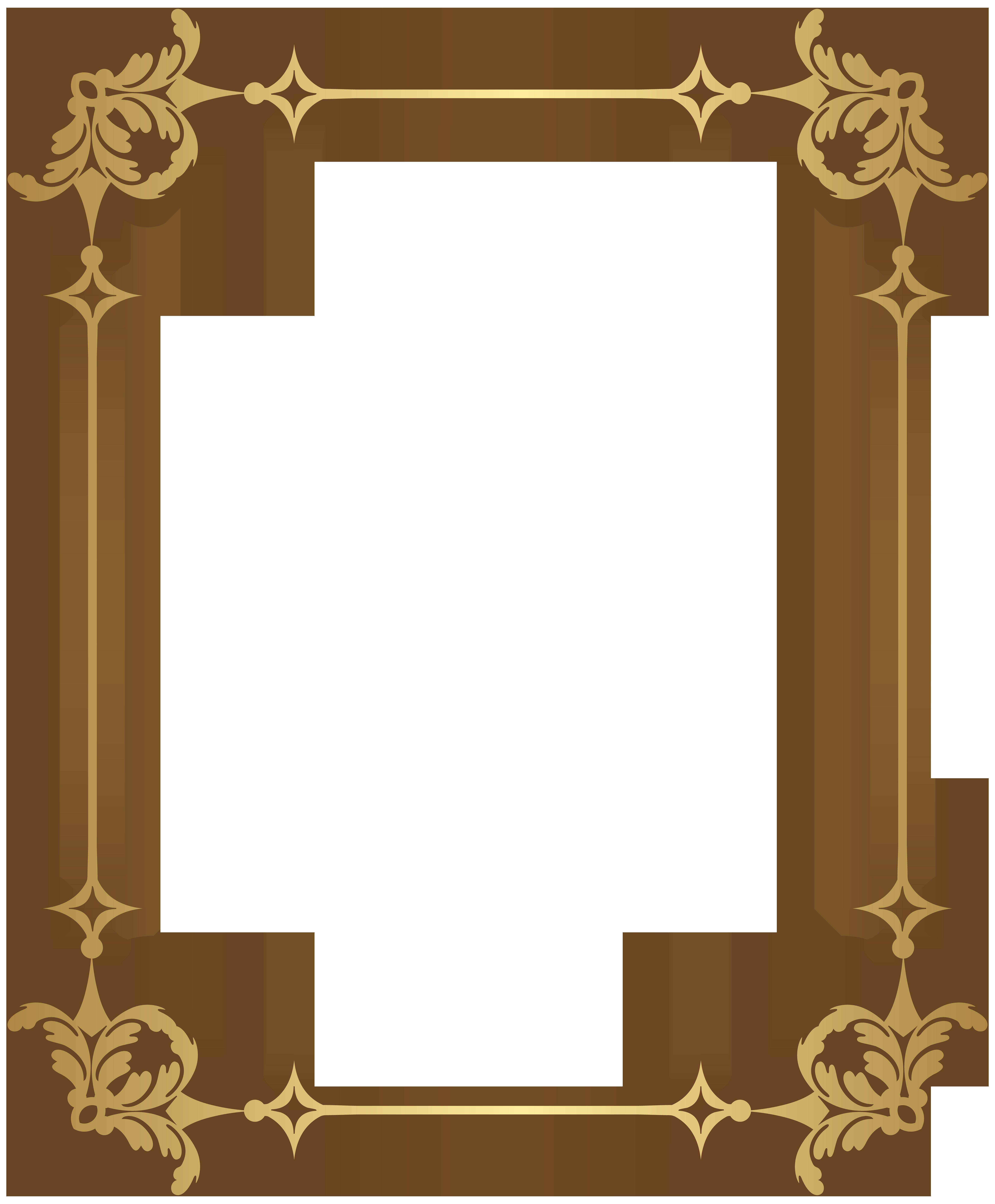 Border Frame Decoration Transparent PNG Clip Art.