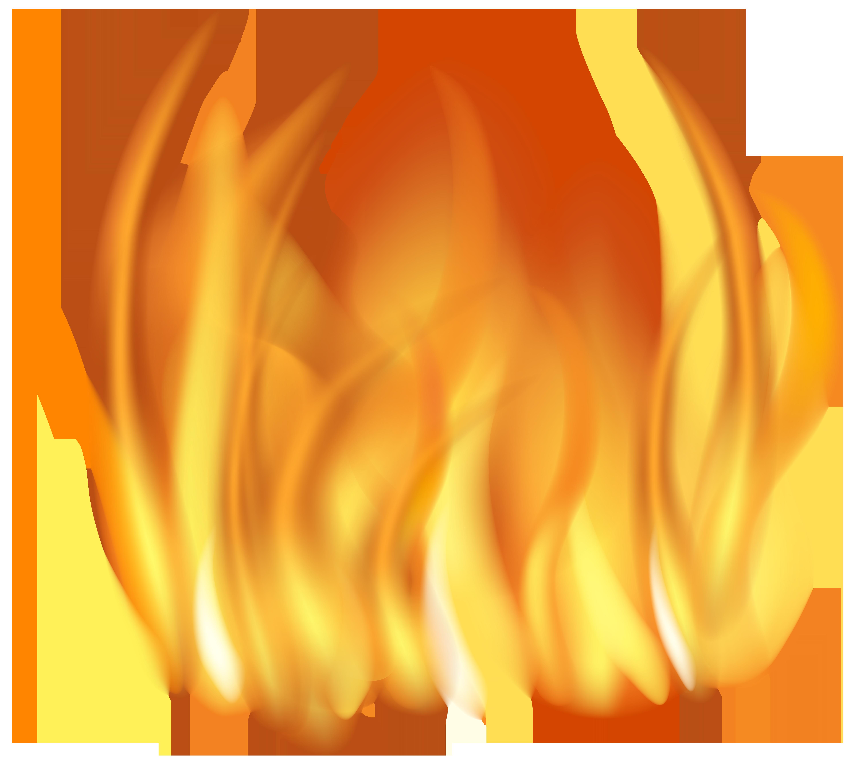 Fire Flames Transparent PNG Clip Art Image.
